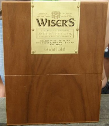 Wisers 150th Anniversary Red Letter